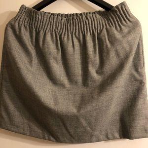 NWT 🆕 J.Crew Wool-blend Sidewalk Skirt, Grey